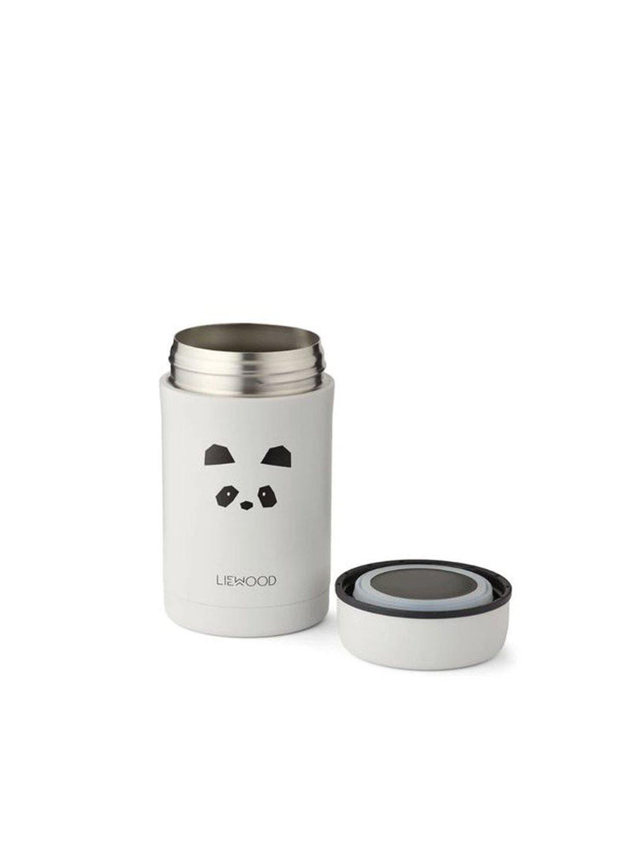 Liewood Bernard Food Jar Panda light grey - 1love2hugs3kisses ibiza