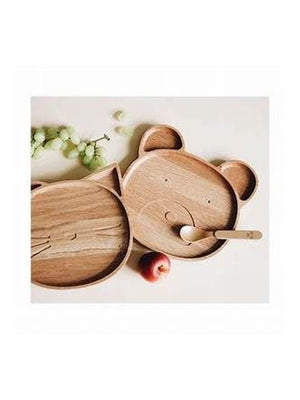 Liewood Conrad Wooden Plate Bear - 1love2hugs3kisses Ibiza