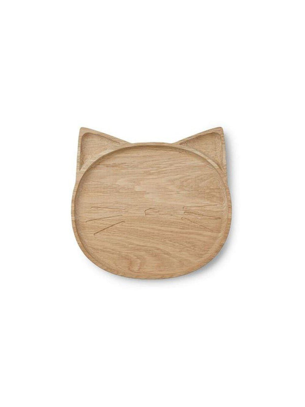 Liewood Conrad Wooden Plate Cat - 1love2hugs3kisses Ibiza
