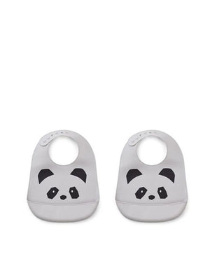 Liewood Tilda Silicone Panda dumbo grey (2pack) - 1love2hugs3kisses Ibiza