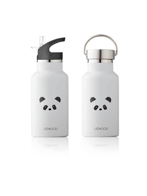 Liewood Anker Water Bottle Panda light grey - 1love2hugs3kisses Ibiza