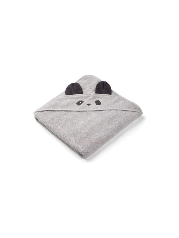 Liewood Augusta Hooded Towel Panda dumbo grey - 1love2hugs3kisses Ibiza