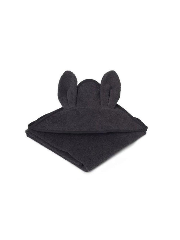 Liewood Augusta Hooded Towel Rabbit dark grey - 1love2hugs3kisses Ibiza