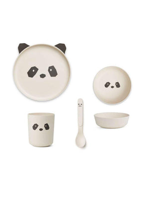 Liewood Bamboo Tableware Box Set Panda creme de la creme - 1love2hugs3kisses Ibiza
