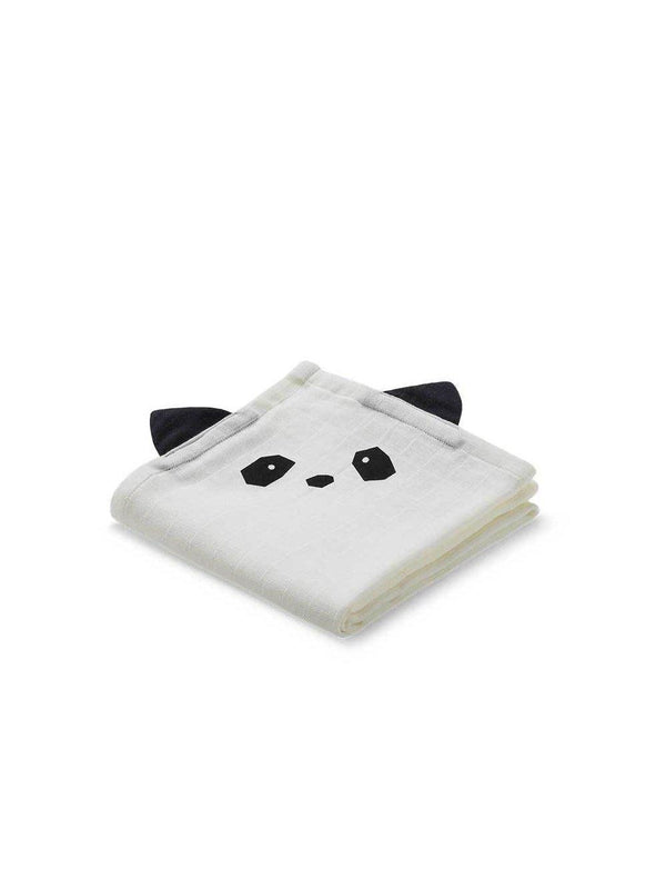 Liewood Hannah Muslin Cloth Panda 2pack - 1love2hugs3kisses Ibiza
