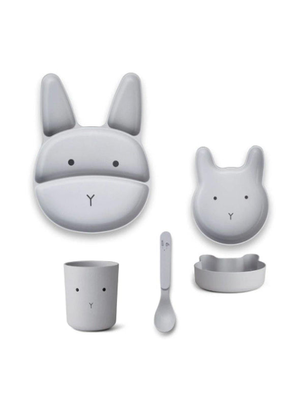 Liewood Jules Junior Bamboo Set Rabbit Dumbo grey - 1love2hugs3kisses Ibiza