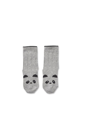 Liewood Silas Socks Panda grey melange - 1love2hugs3kisses Ibiza