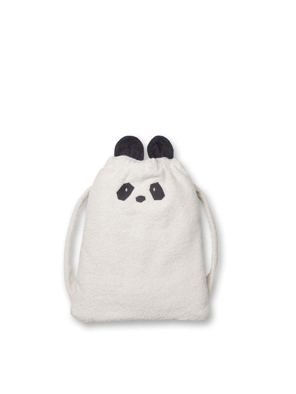 Liewood Thor Towel Back Pack Panda creme de la creme - 1love2hugs3kisses Ibiza