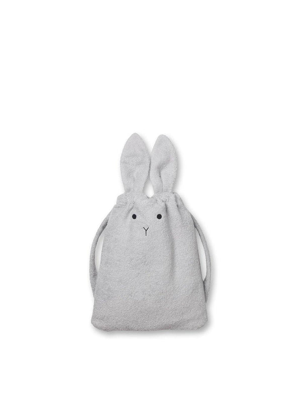 Liewood Thor Towel Back Pack Rabbit dumbo grey - 1love2hugs3kisses Ibiza