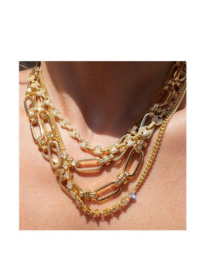 Luv Aj Ballier Curb Chain Necklace Gold - 1love2hugs3kisses ibiza