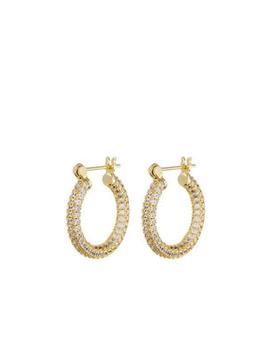 Luv Aj Pave Baby Skinny Amalfi Hoops Gold - 1love2hugs3kisses ibiza