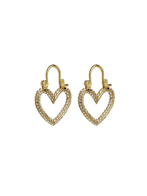 Luv Aj Mini Heartbreaker Hoops Gold - 1love2hugs3kisses Ibiza