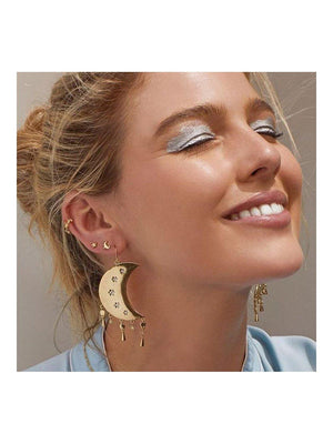 Luv Aj Celestial Statement Earrings Gold - 1love2hugs3kisses Ibiza