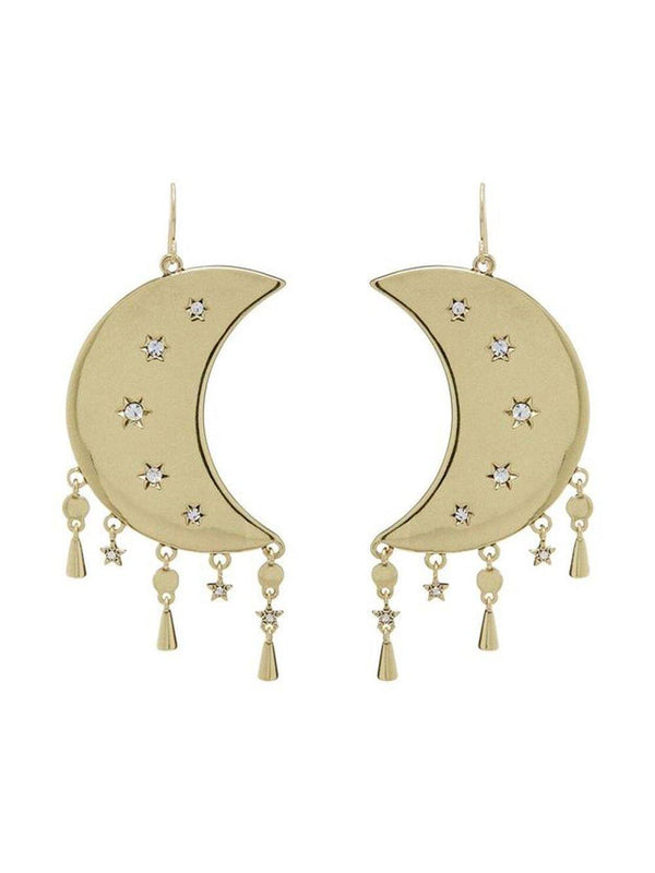 Luv Aj Celestial Statement Earrings Gold