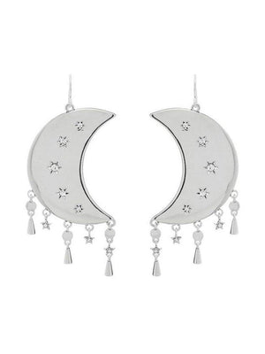 Luv Aj Celestial Statement Earrings Silver