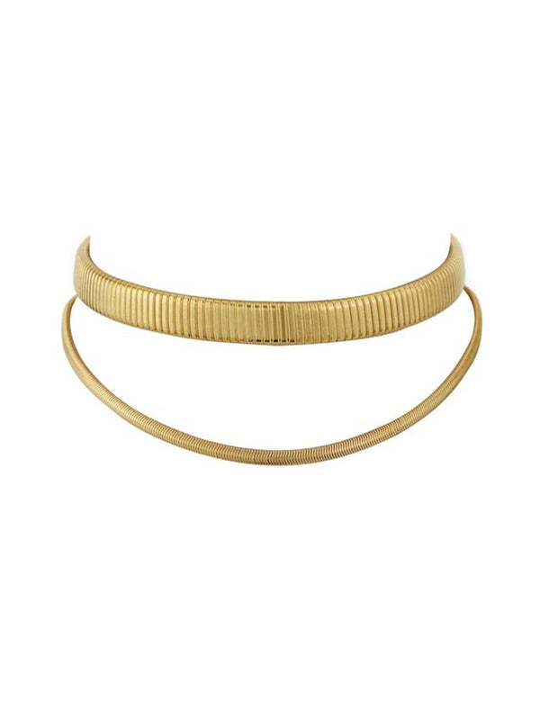 Luv Aj Double Snake Chain Choker Gold - 1love2hugs3kisses Ibiza