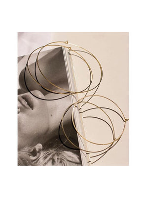 Luv Aj Earrings Capri Wire Hoops Gold
