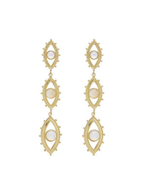 Luv Aj Evil Eye Drop Earrings Gold - 1love2hugs3kisses Ibiza