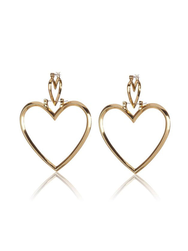 Luv Aj Heartbreaker Hoop Set Gold