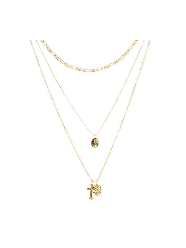 Luv Aj Isidore Cross Charm Necklace Gold - 1love2hugs3kisses Ibiza