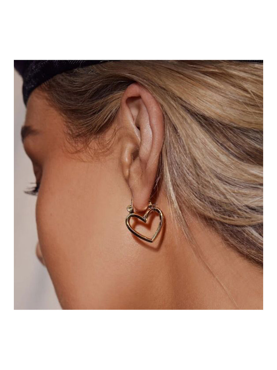 Luv Aj Mini Heartbraker Hoops Gold