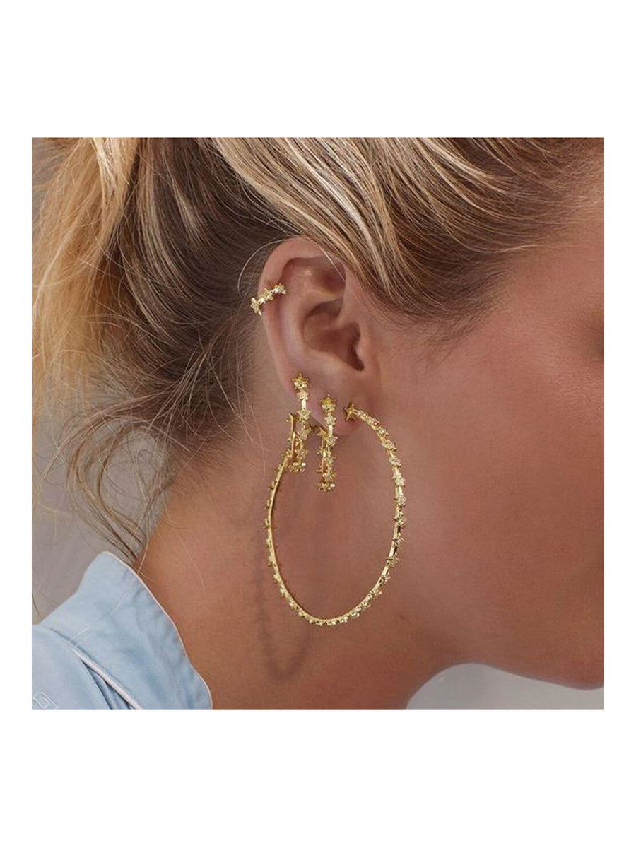 Luv Aj Mini Pave Star Hoops Gold - 1love2hugs3kisses Ibiza