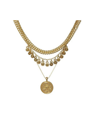 Luv Aj Noa Coin Charm Necklace Gold - 1love2hugs3kisses Ibiza