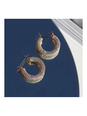 Luv Aj Pave Baby Amalfi Hoops Gold - 1love2hugs3kisses Ibiza