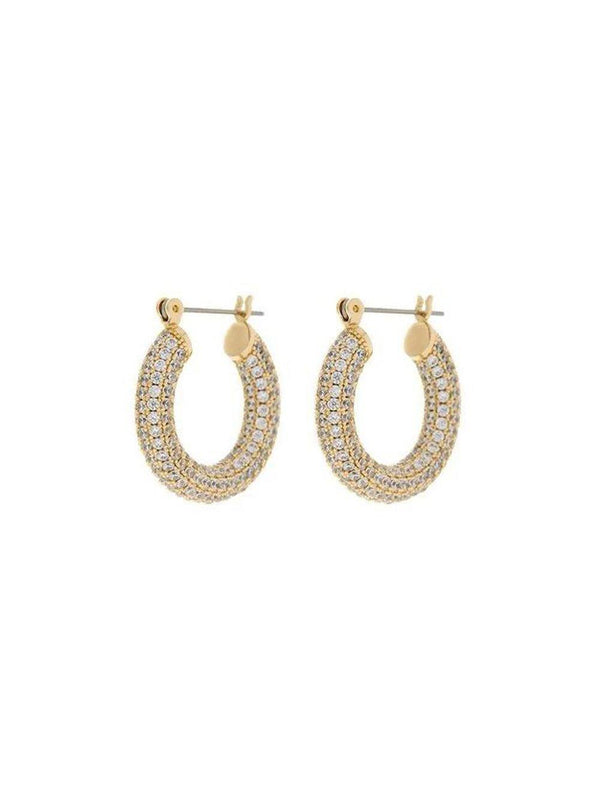 Luv Aj Pave Baby Amalfi Hoops Gold