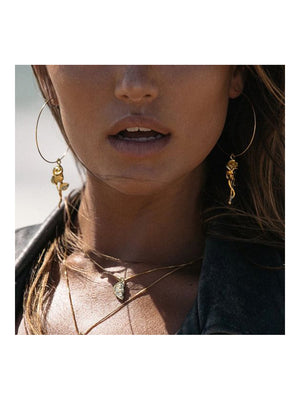 Luv Aj Rosette Hoops Gold - 1love2hugs3kisses Ibiza