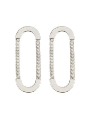 Luv Aj Snake Chain Loop Studs Silver - 1love2hugs3kisses Ibiza