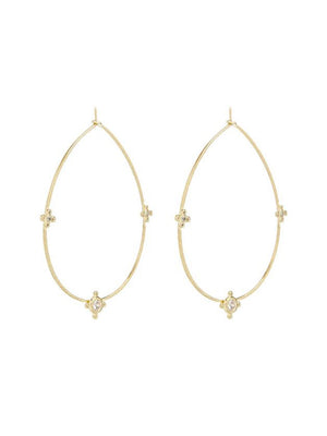 Luv Aj Tresor Wire Hoops Gold - 1love2hugs3kisses Ibiza