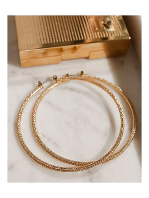 Luv Aj Triple Pave Hoops Gold - 1love2hugs3kisses Ibiza