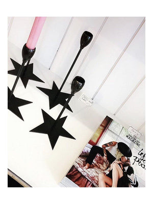 M et M James Candle Holders Star black - 1love2hugs3kisses Ibiza