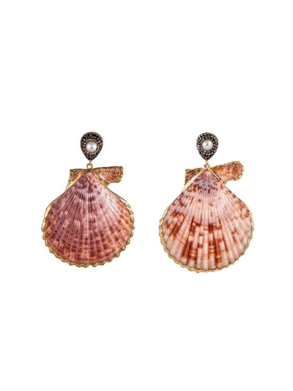 Mayol Jewelry Royal Scallop Earrings Gold - 1love2hugs3kisses Ibiza