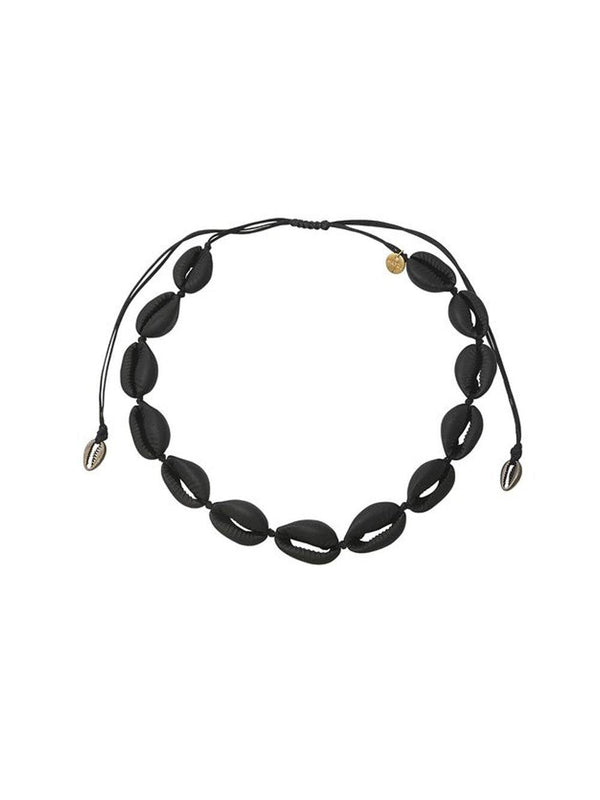 Mayol Jewelry The Black Cowrie Choker Black - 1love2hugs3kisses Ibiza