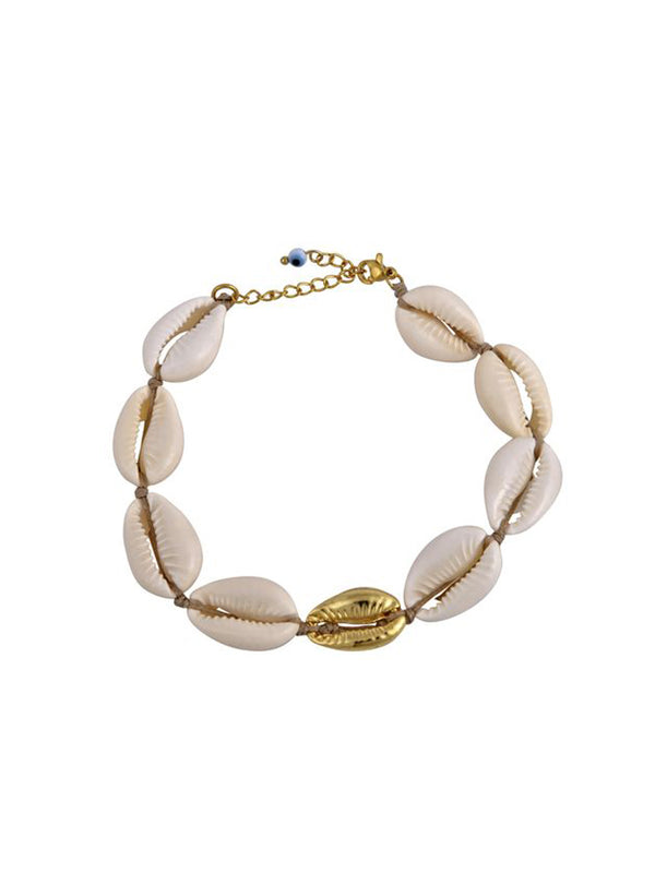 Mayol Jewelry The Cowrie Anklet white Gold - 1love2hugs3kisses Ibiza