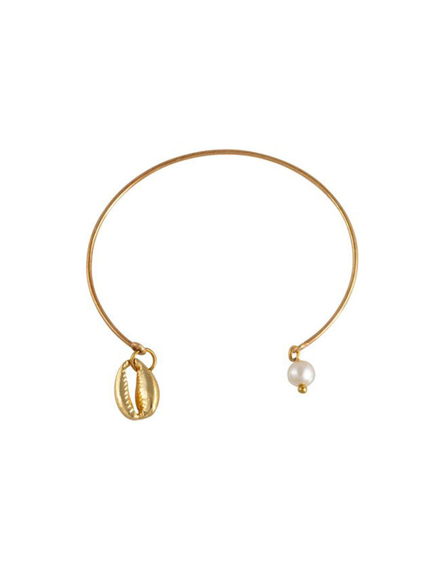 Mayol Jewelry The Cowrie Bangle Gold - 1love2hugs3kisses Ibiza