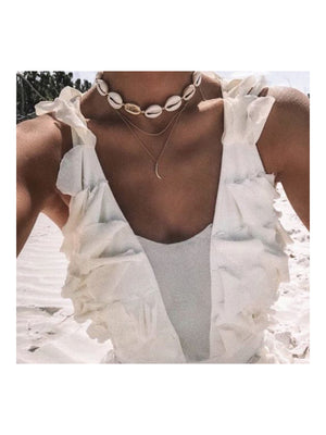 Mayol Jewelry The Cowrie Choker white Gold - 1love2hugs3kisses Ibiza