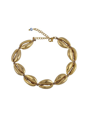 Mayol Jewelry The Gold Cowrie Anklet Gold - 1love2hugs3kisses Ibiza