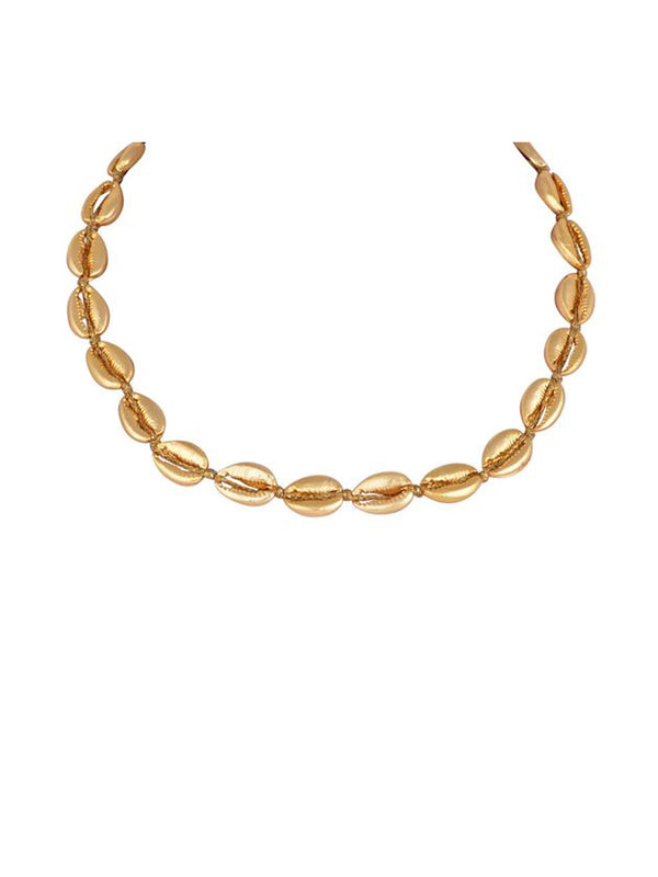 Mayol Jewelry The Mini Gold Cowrie Choker Gold