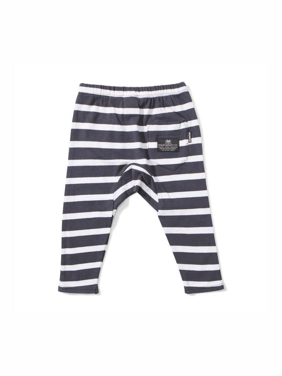 Mini Munster Maple Jersey stripe pants - 1love2hugs3kisses Ibiza