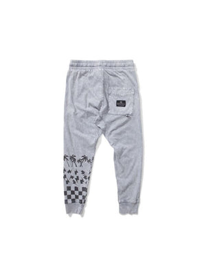 Munster Kids Checker Palm Pants grey - 1love2hugs3kisses Ibiza