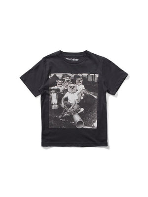 Munster Kids Ratpack T-shirt soft black