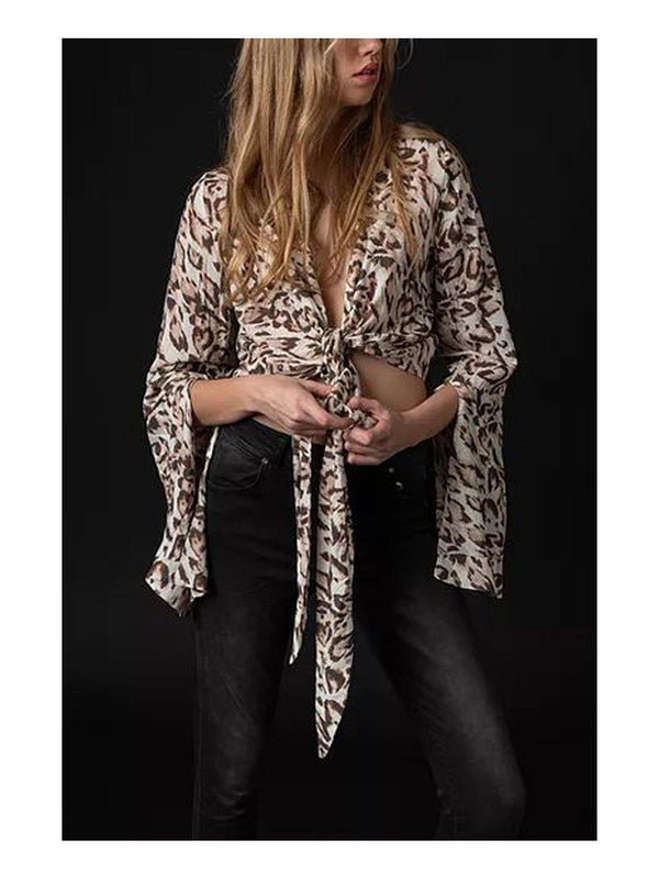 NGHTBRD Def Leopard Tie Top - 1love2hugs3kisses ibiza