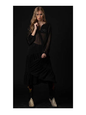 NGHTBRD Dreams Embroidered Midi Dress Black - 1love2hugs3kisses ibiza