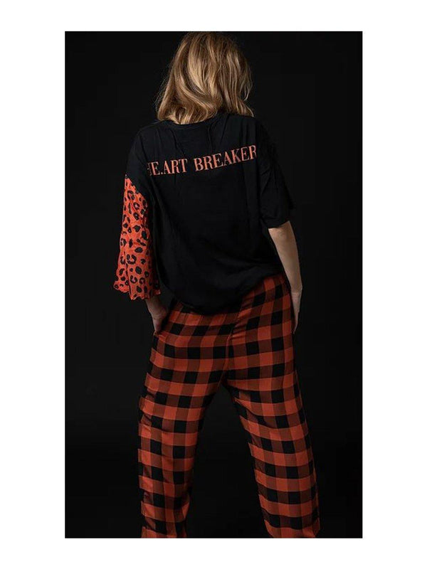 NGHTBRD Heartbreaker Onesleeve tee Black - 1love2hugs3kisses ibiza
