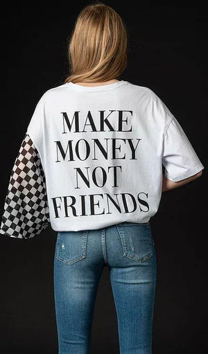 NGHTBRD Make Money Tee white - 1love2hugs3kisses ibiza