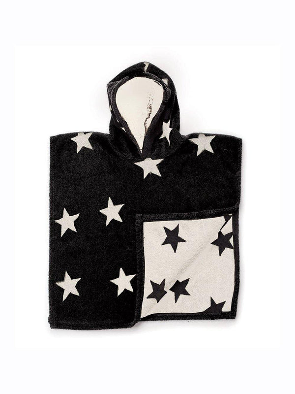Nununu Poncho Black-Natural Star - 1love2hugs3kisses Ibiza