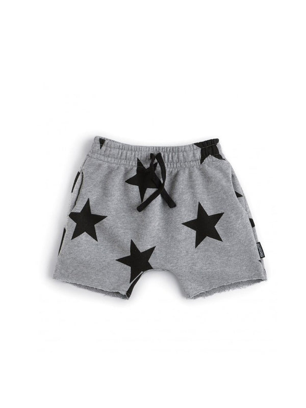 Nununu Rounded Star Sweatshorts Heather grey - 1love2hugs3kisses ibiza